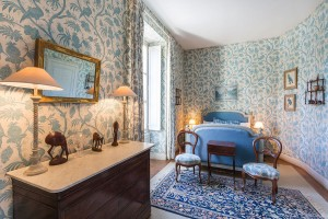 Chambre Bleue - Château de La Caillotière